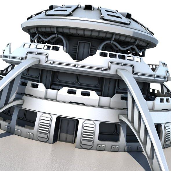 Sci Fi Building 1503 - 3DOcean Item for Sale