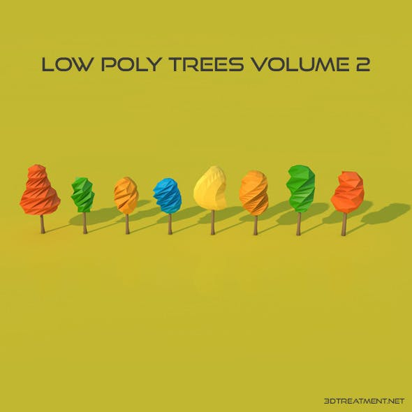 8 Low Poly Trees