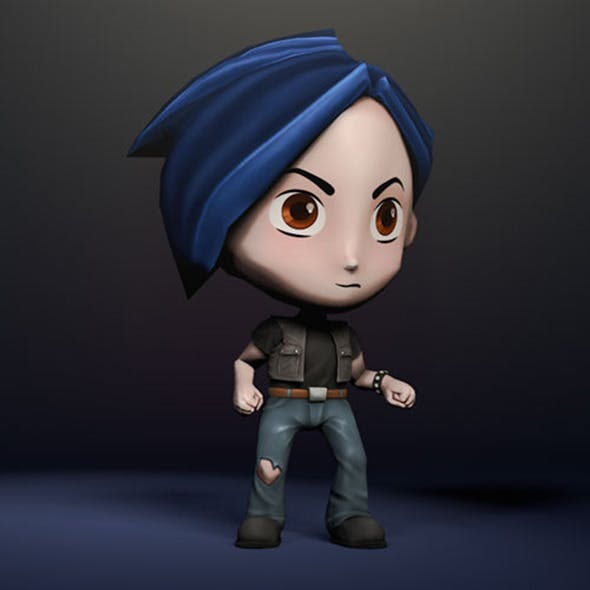 3D Character Chibi - Rigged