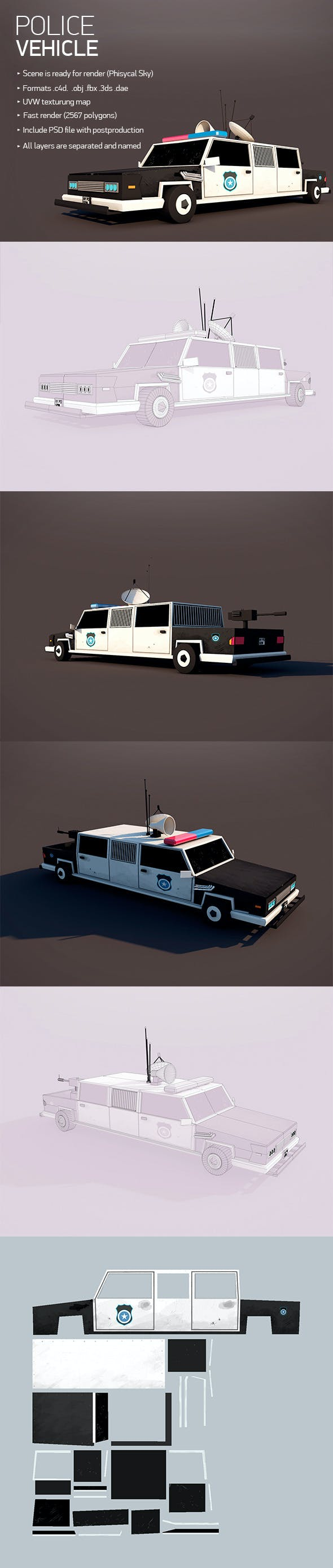 Police Vehicle - 3DOcean Item for Sale