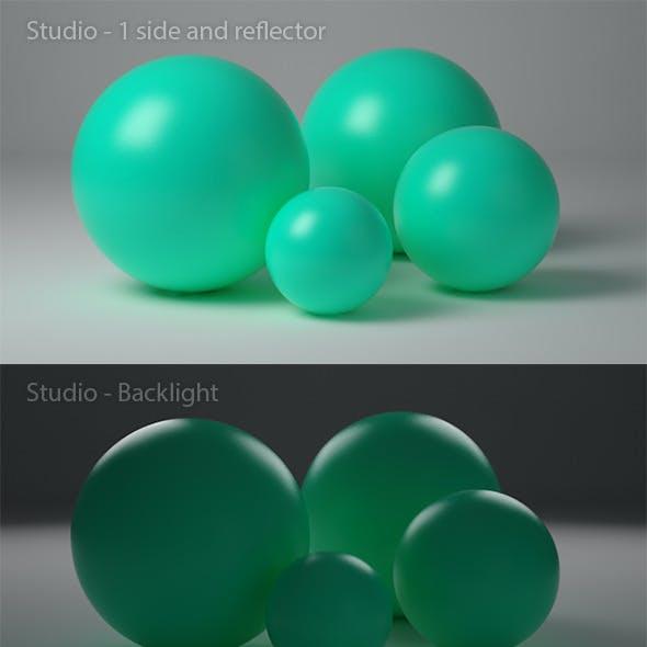 Cinema 4D studio with 7 variations