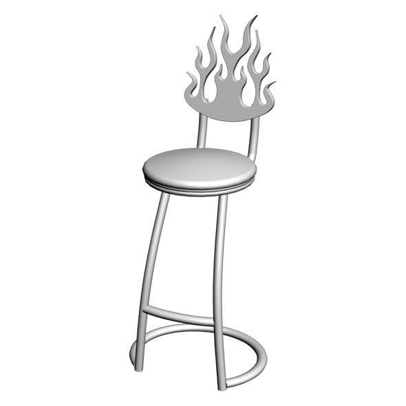 Wrought Iron Chair 02