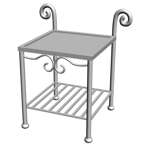 Wrought Iron Table 01 - 3DOcean Item for Sale