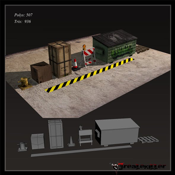 Game ready Props - 3DOcean Item for Sale