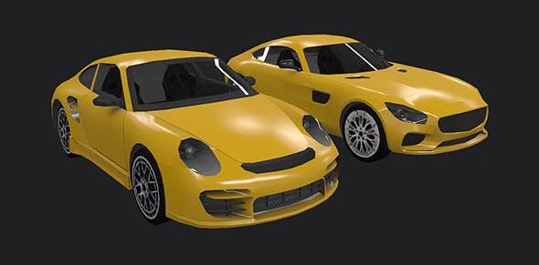 Low Poly Destructible 2Cars no. 2 - 3DOcean Item for Sale