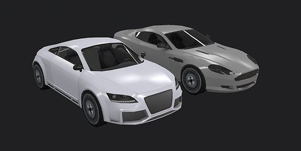 Low Poly Destructible 2Cars no. 5 - 3DOcean Item for Sale