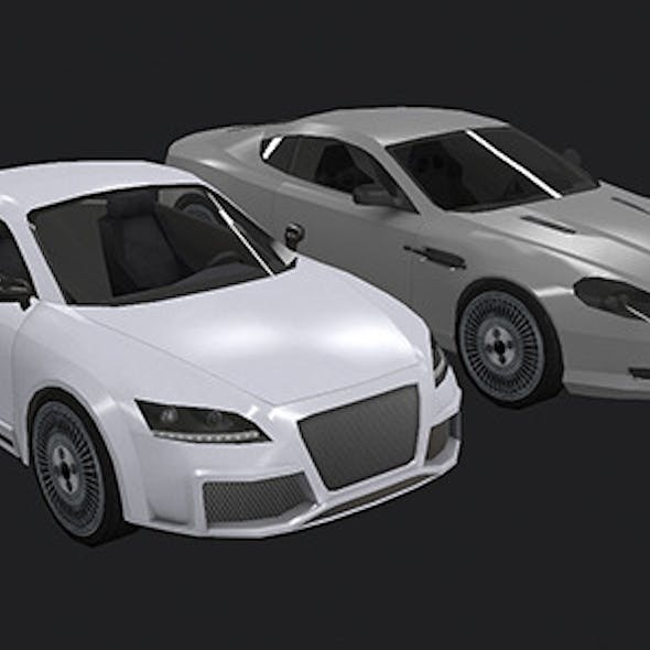 Low Poly Destructible 2Cars no. 5