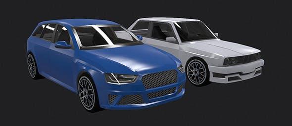 Low Poly Destructible 2Cars no. 6 - 3DOcean Item for Sale