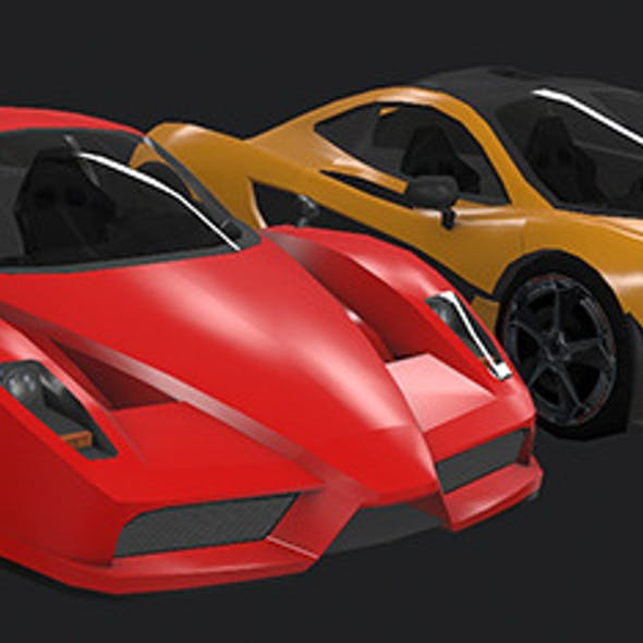 Low Poly Destructible 2Cars no. 7
