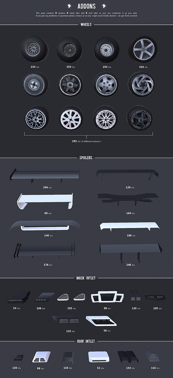 Low Poly Addons - 3DOcean Item for Sale