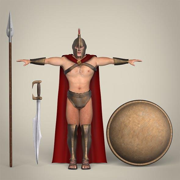 Realistic Spartan Warrior