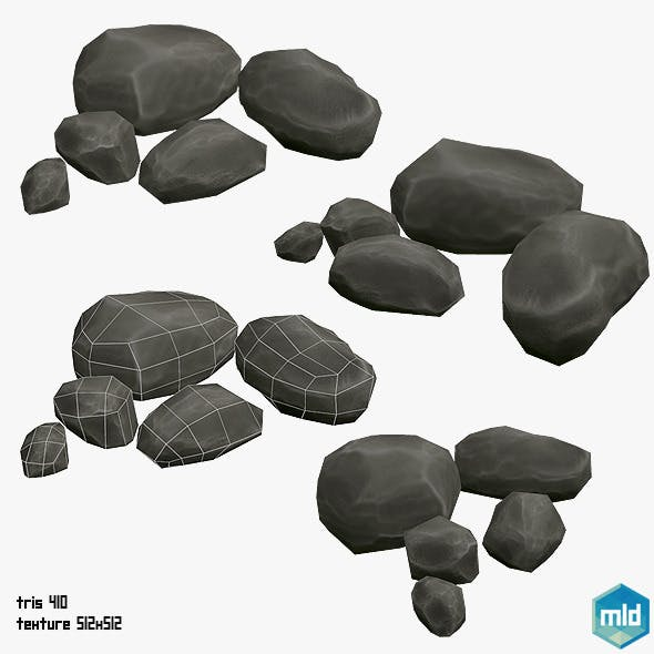 Low Poly Rock Asset