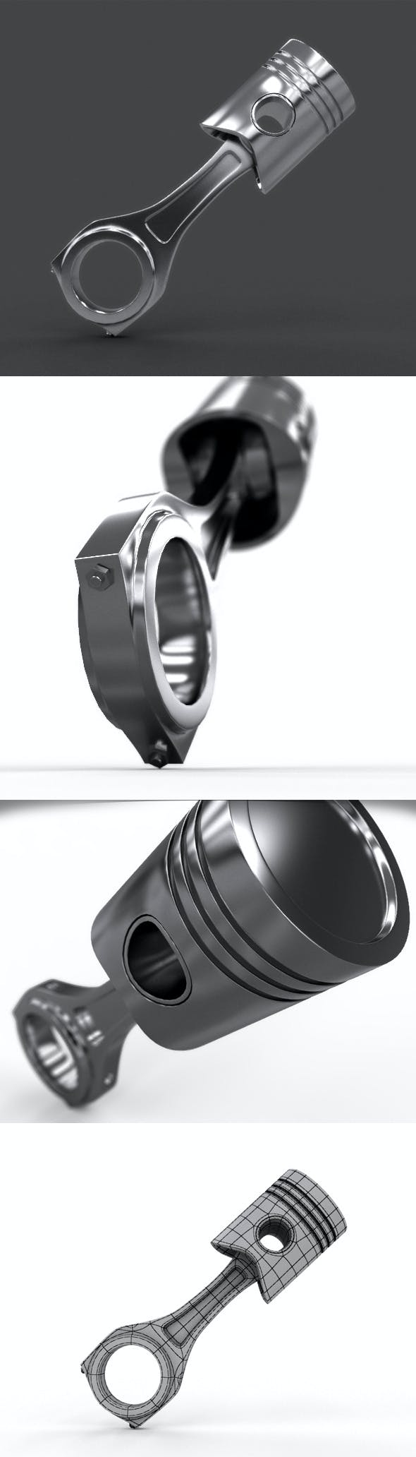 Realistic Piston With Material - 3DOcean Item for Sale
