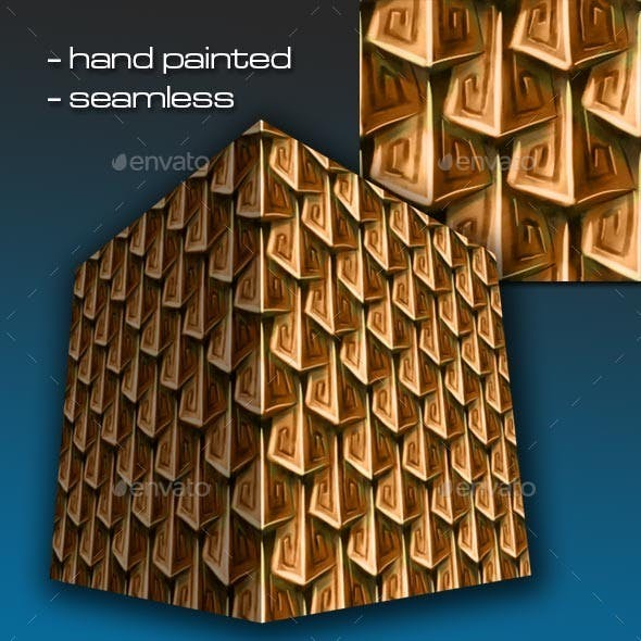 Seamless Hand Painted Bronze/Copper Scale Mail 2 - 3DOcean Item for Sale