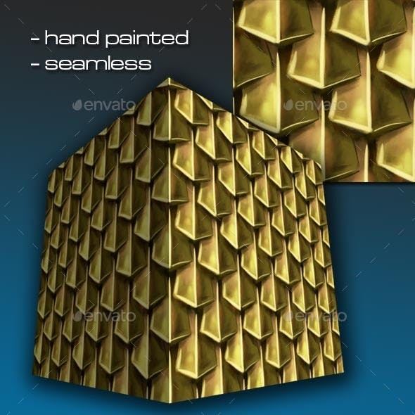 Seamless Hand Painted Golden Scale Mail 1