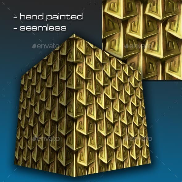 Seamless Hand Painted Golden Scale Mail 2