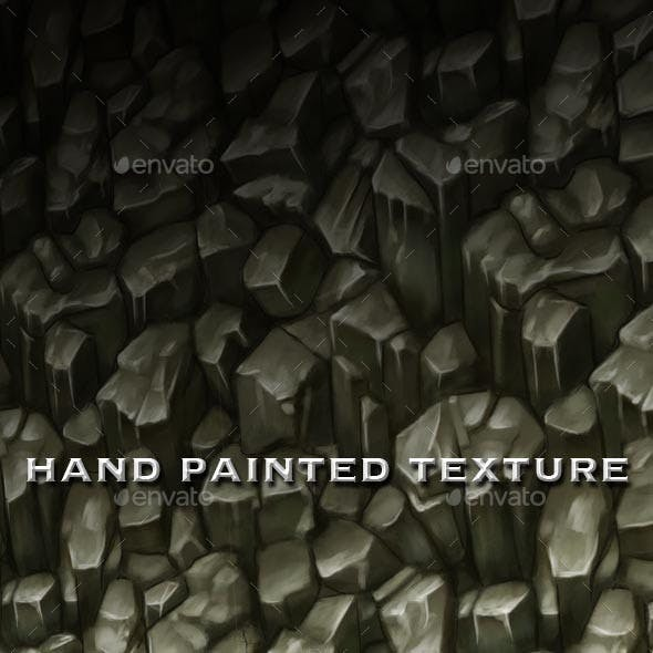 Seamless Hand Painted Rough Rocks Texture