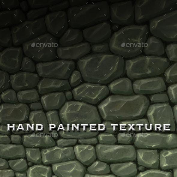 Seamless Hand Painted Rough Stone Wall Texture
