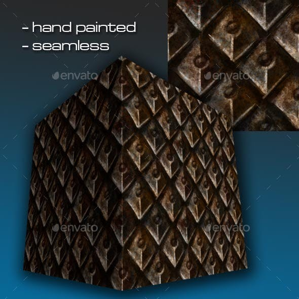 Seamless Hand Painted Rusty Scale Mail Armour 2 - 3DOcean Item for Sale