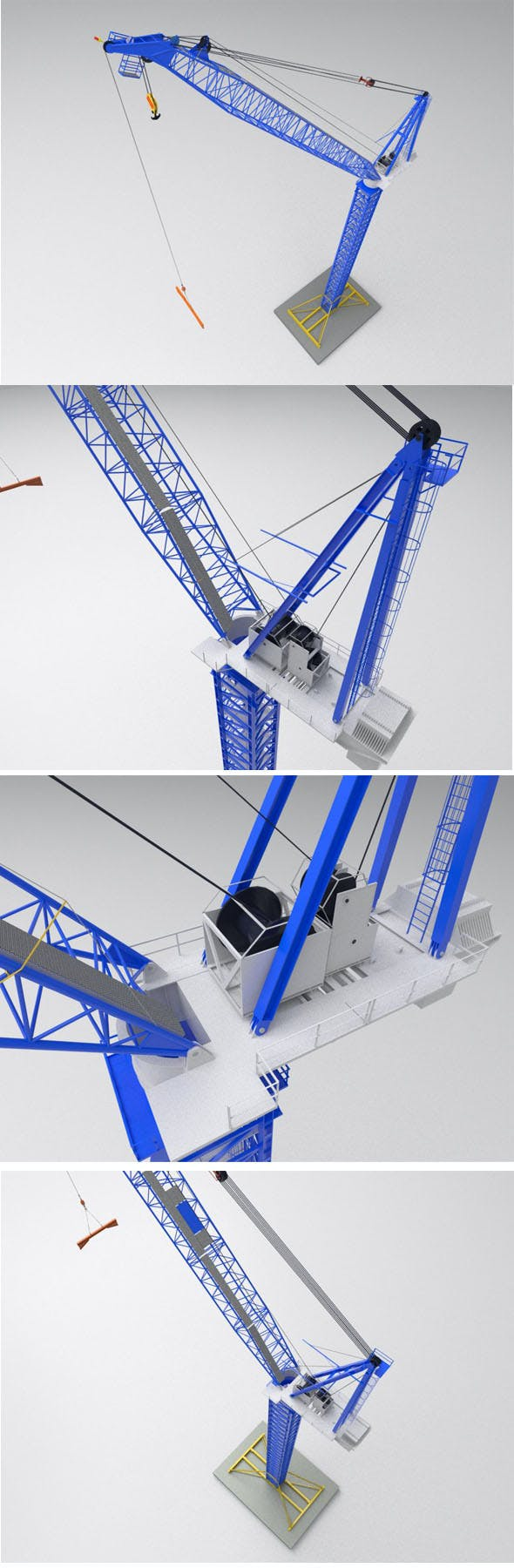 Favelle Favco M1280D TOWER crane - 3DOcean Item for Sale