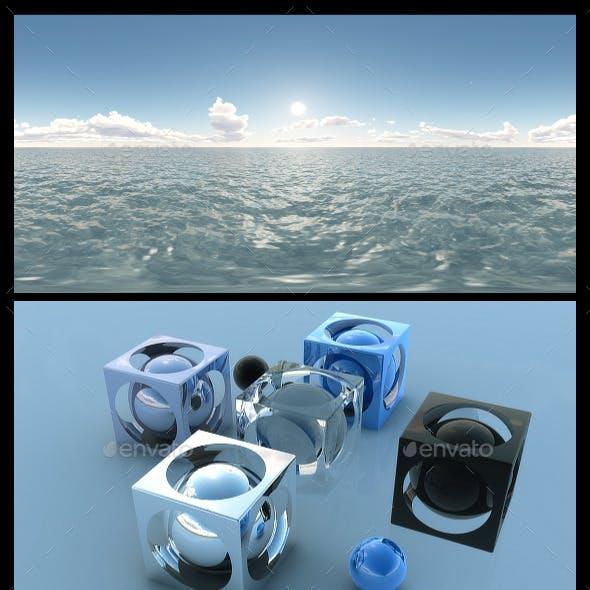 Ocean Blue Clouds 5 - HDRI