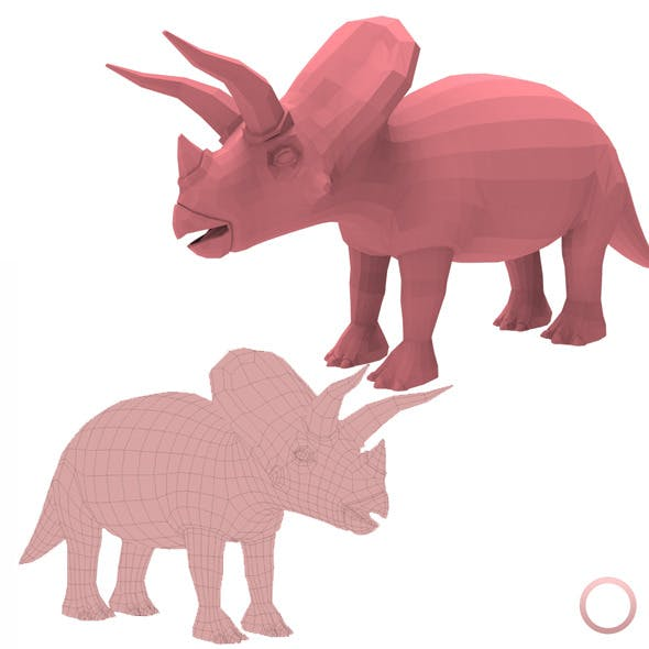 Triceratops Base Mesh