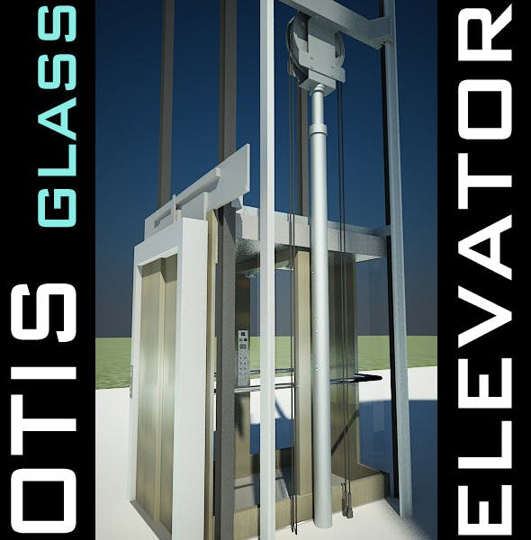 Elevator Lift 3D Model produced by OTIS by VisualCG | 3DOcean