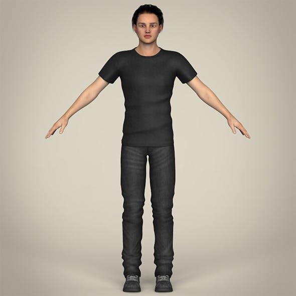 Realistic Handsome Teenage Boy - 3DOcean Item for Sale