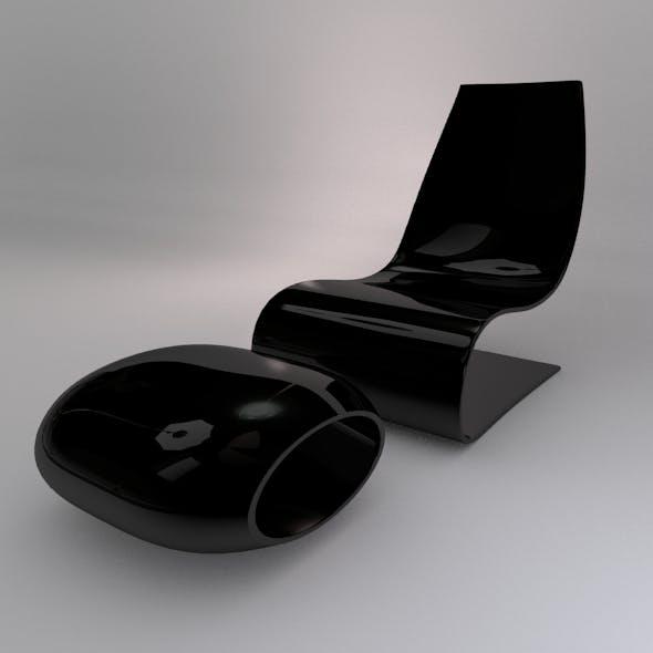 Modern Chair & Footrest