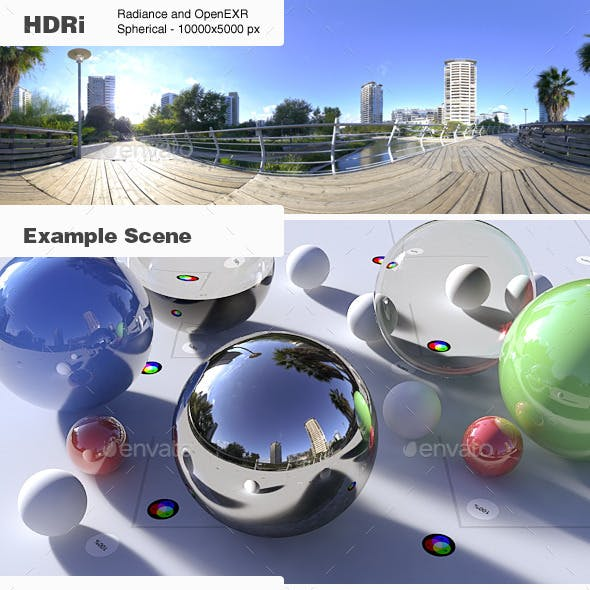 HDRi 002 - Exterior - Clear Sky + Backplates