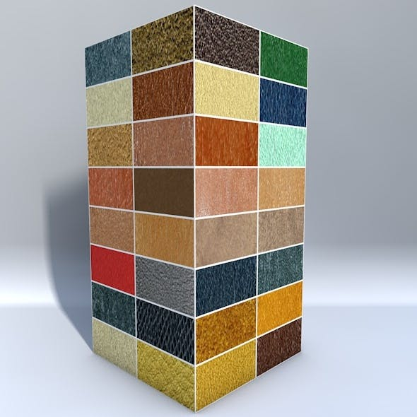 32 Leather Materials Pack - 3DOcean Item for Sale