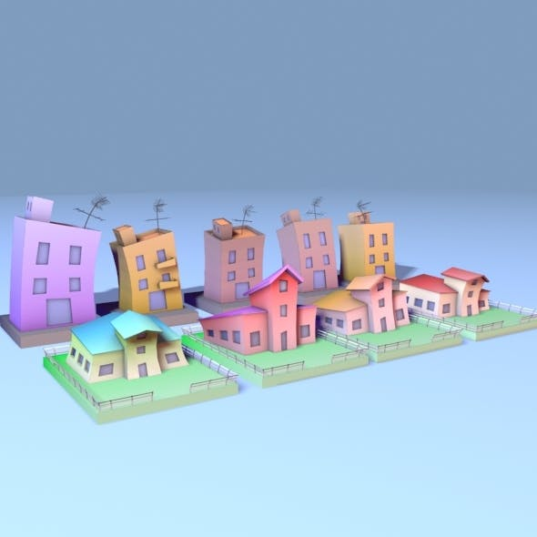 Cartoon City - 3DOcean Item for Sale