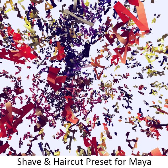 Shave Streamers Celebration - 3DOcean Item for Sale