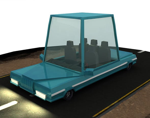 Low Poly Rigged Cartoon Car - 3DOcean Item for Sale