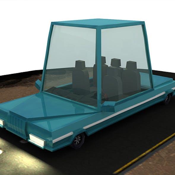 Low Poly Rigged Cartoon Car