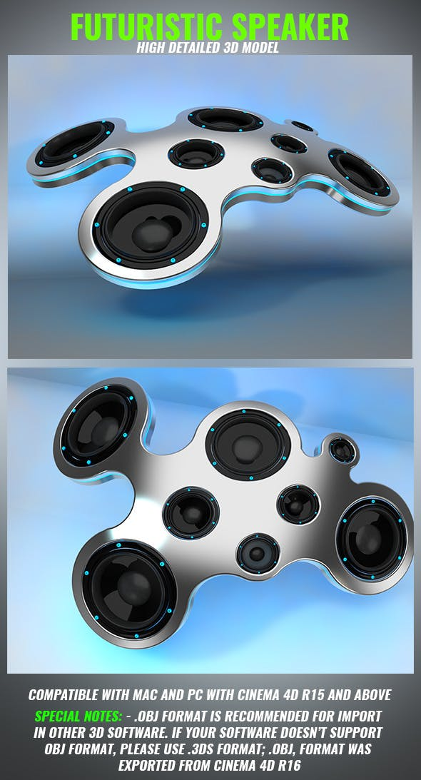 Futuristic Speaker - 3DOcean Item for Sale