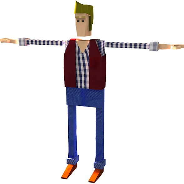 """Low Poly Character Rigged """"Nolan"""""""