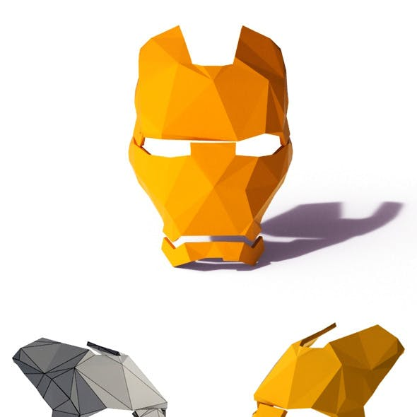 Low Poly Iron Man Mask