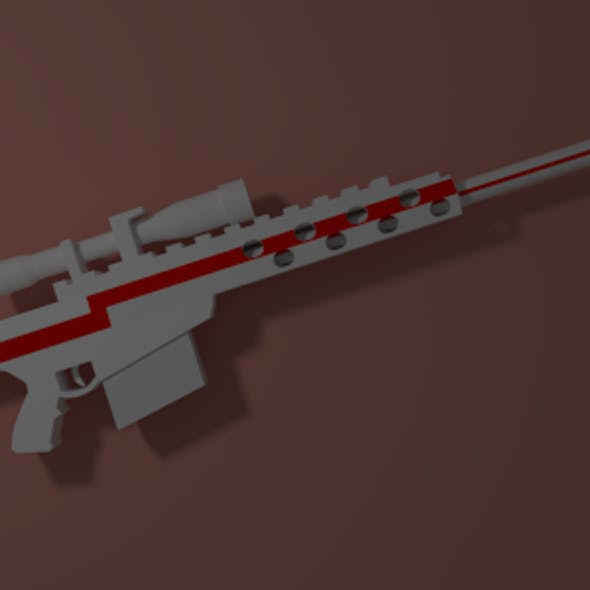 LowPoly Barrett .50 call