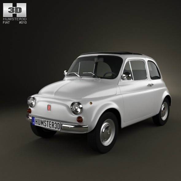 Fiat 500 1970 - 3DOcean Item for Sale