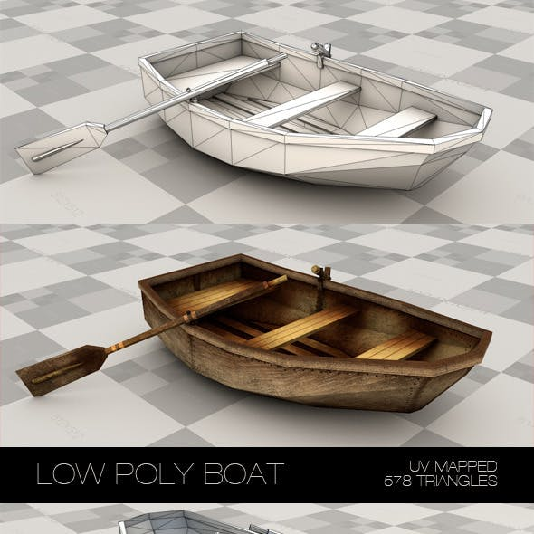 Low poly boat made with plywood.