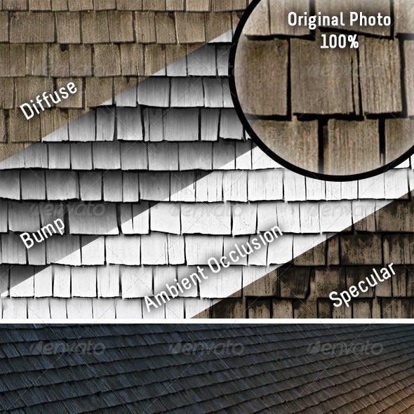 Weathered Cedar Shingles - Tileable Texture