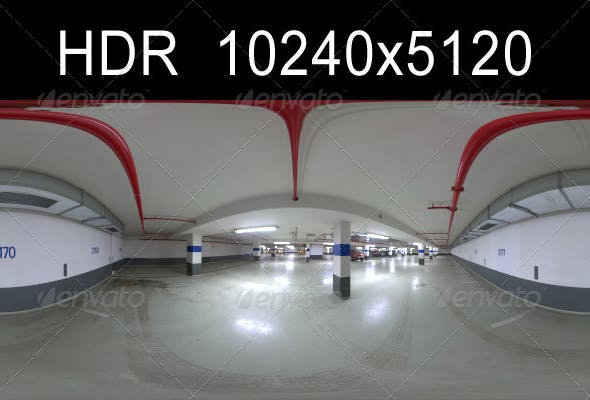 Garage 1 HDR Environment - 3DOcean Item for Sale