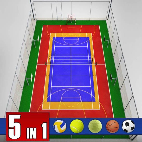 Multi sport court centrum pack