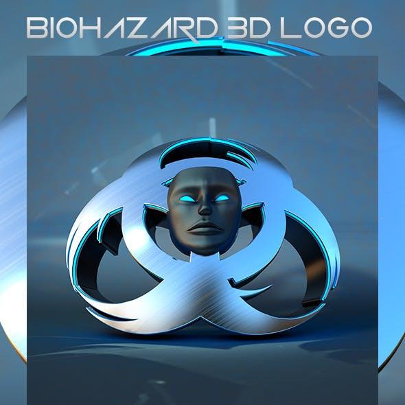 Biohazard 3D Logo