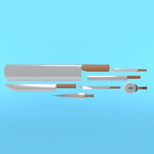knife pack - 3DOcean Item for Sale