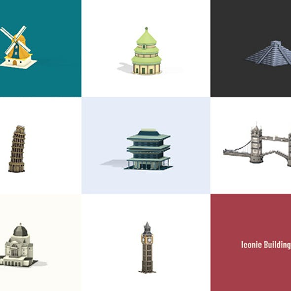 Lowpoly Iconic Buildings Pack