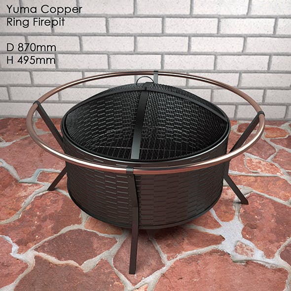 Yuma Copper Ring Firepit - 3DOcean Item for Sale