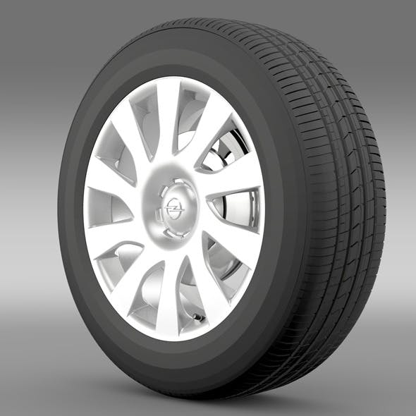 Opel Vivaro Van wheel 2015 - 3DOcean Item for Sale