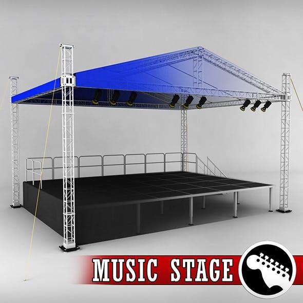 Music stage platform scaffolding